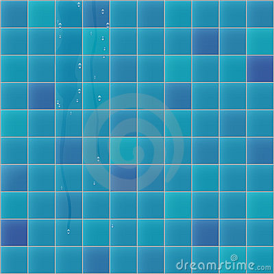 Blue faience with water drops