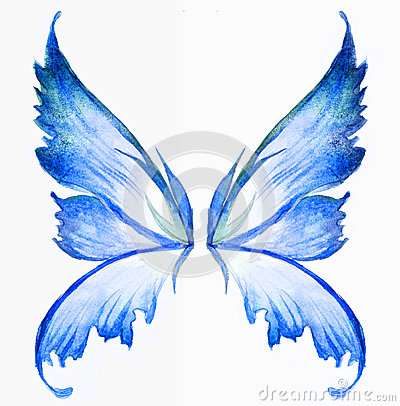 blue fairy wings royalty free stock photo image 30466205