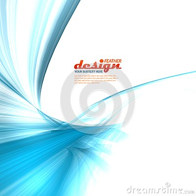 Blue feather design concept