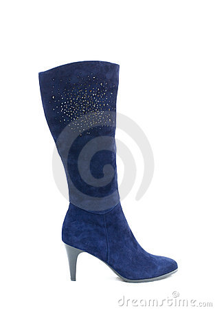 Blue female shammy boot