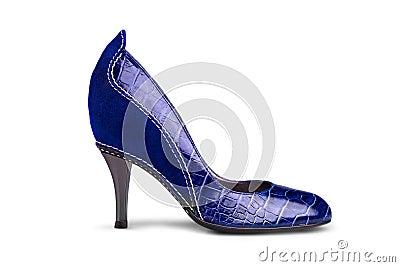 Blue female shoe-1