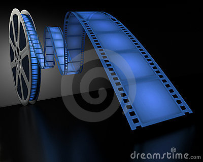 Blue Film Reel