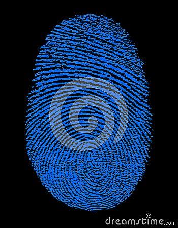 Blue Fingerprint Identity ID