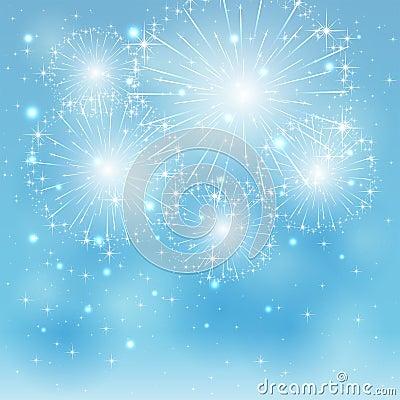 Free Blue Fireworks Royalty Free Stock Photos - 41004738