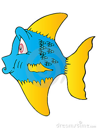 The blue fish yellow fin