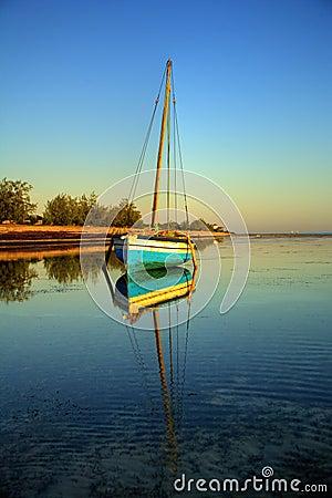 Free Blue Fishing Sail Boat Stock Photo - 3625580