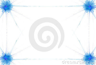 Blue Flame Border Stock Image - Image: 2441781