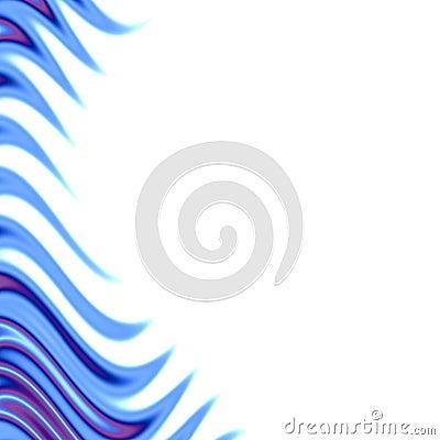 Blue flames frame