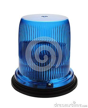 Blue flashing beacon.