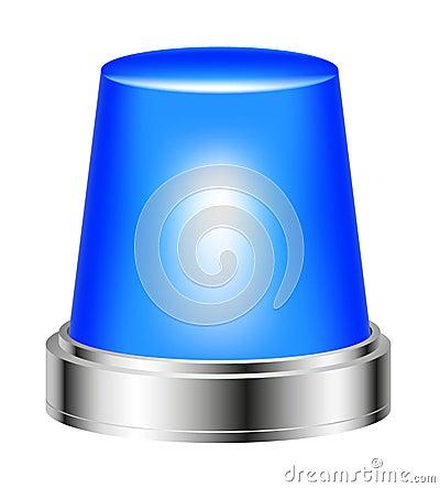 Blue flashing siren