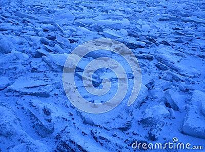 Blue floating ice