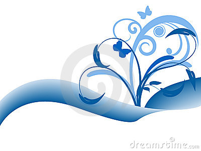 Blue floral background design