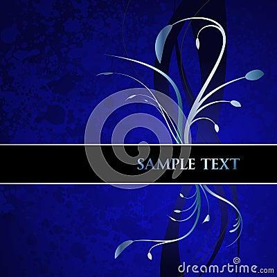 Blue Floral Banner
