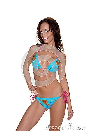 Blue  Floral Bikini