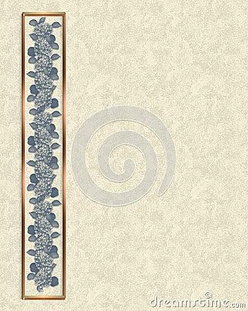 Blue floral Border parchment