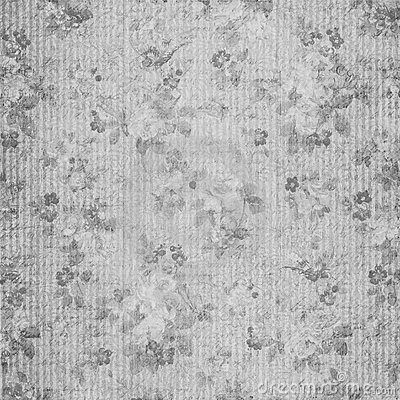 Blue floral shabby chic vintage scrapbook paper