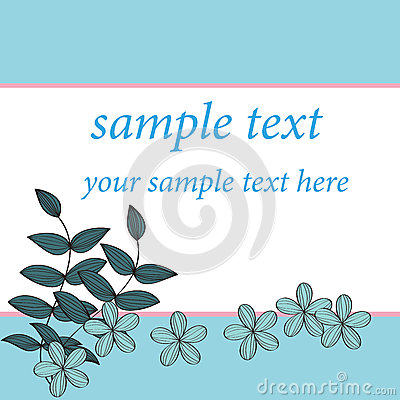 Blue flower card pattern design,