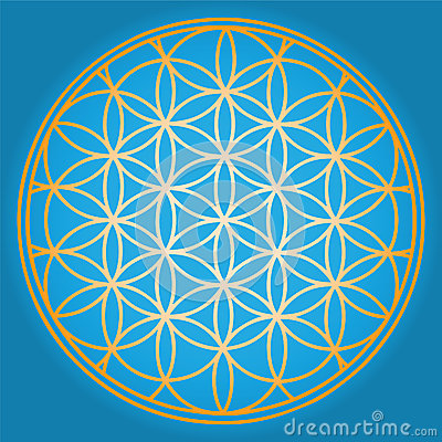 Free Blue Flower Of Life Stock Images - 27723054