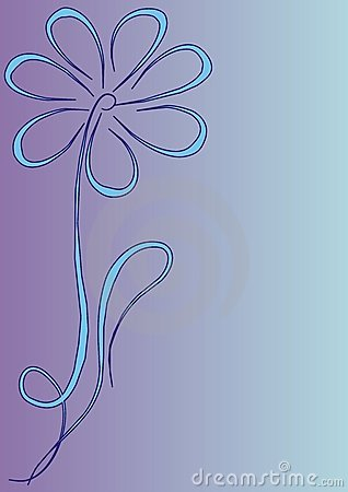 Blue flower ornament frame