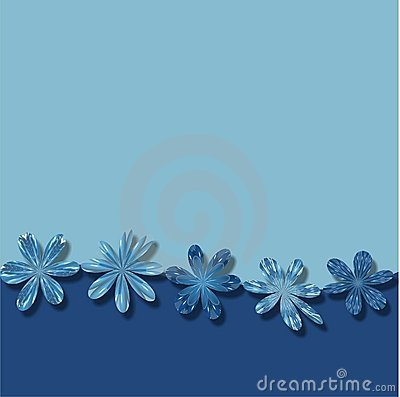 Blue Flowers Frame wallpaper background