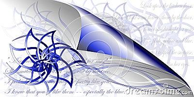 Blue flowers poetry