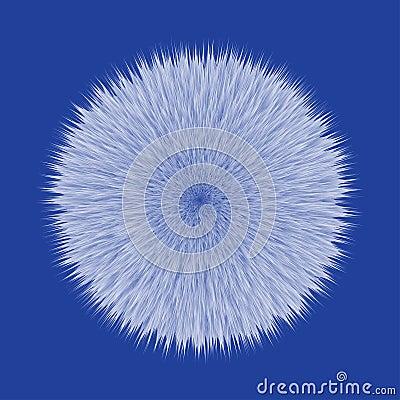 Free Blue Fluffy Vector Hair Ball Royalty Free Stock Photos - 105887458