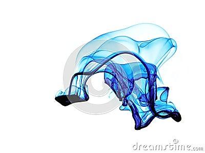 Blue fluid form