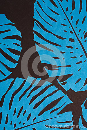 Blue foliage background