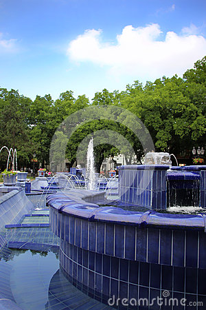 Free Blue Fountain Stock Images - 44234344