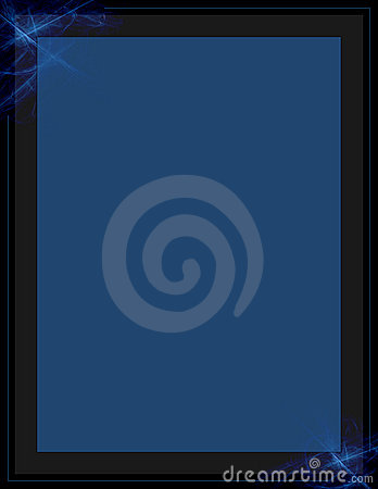 Blue fractal letter