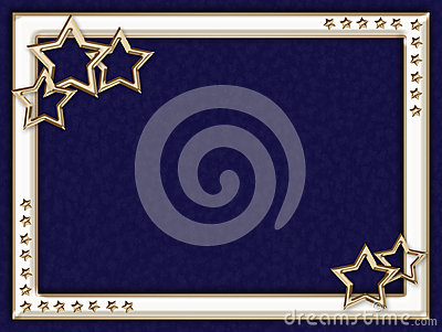 Blue frame with metal stars