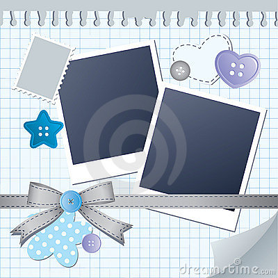 Blue frame for photos