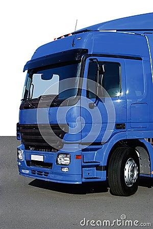 Blue freight truck