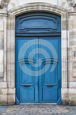 Free Blue French Door Stock Image - 71367331