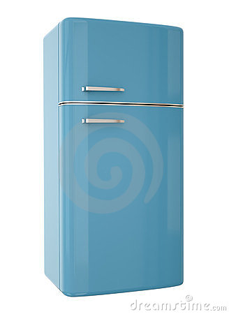 Blue fridge