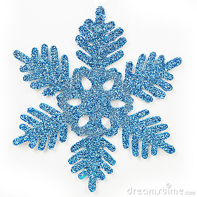 Blue frosted snowflake