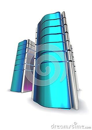 Blue Futuristic Servers
