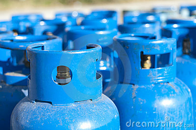 Blue gas balloons
