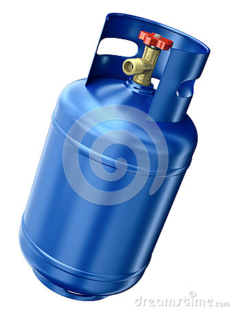 Blue gas container