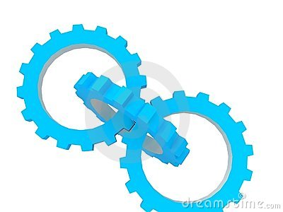 Blue Gears Stock Photos - Image: 11065983