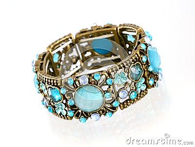 Blue gemstone bracelet