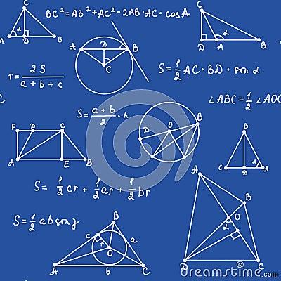 Blue geometry seamless