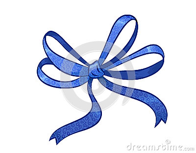 Blue gift bow