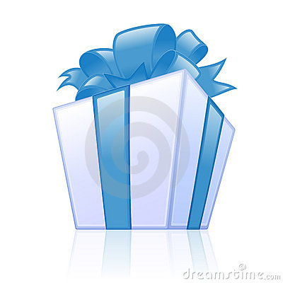 Free Blue Gift Box Stock Image - 5282051