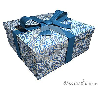 Blue gift box - blue ribbon