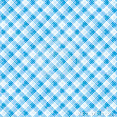 Blue gingham fabric, seamless pattern included