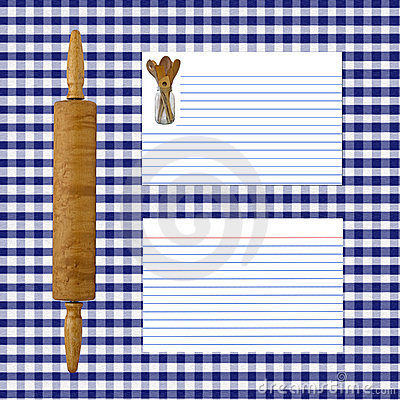 Blue Gingham Recipe Page