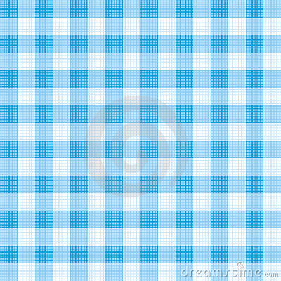 Blue gingham repeat pattern