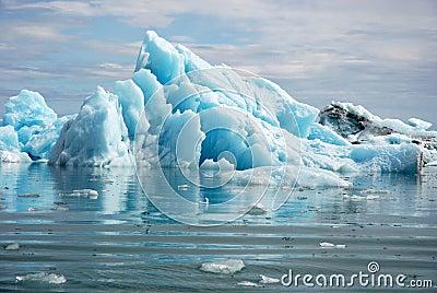 Blue glacier ice-Jokulsarlon lagoon-Iceland