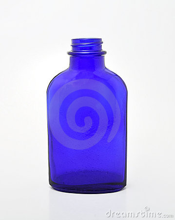 Free Blue Glass Bottle Royalty Free Stock Image - 18413066